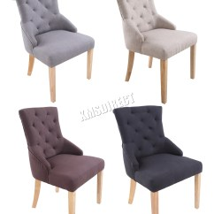 Scoop Back Dining Room Chairs Anti Gravity Outdoor Lounge Foxhunter New Linen Fabric Tufted