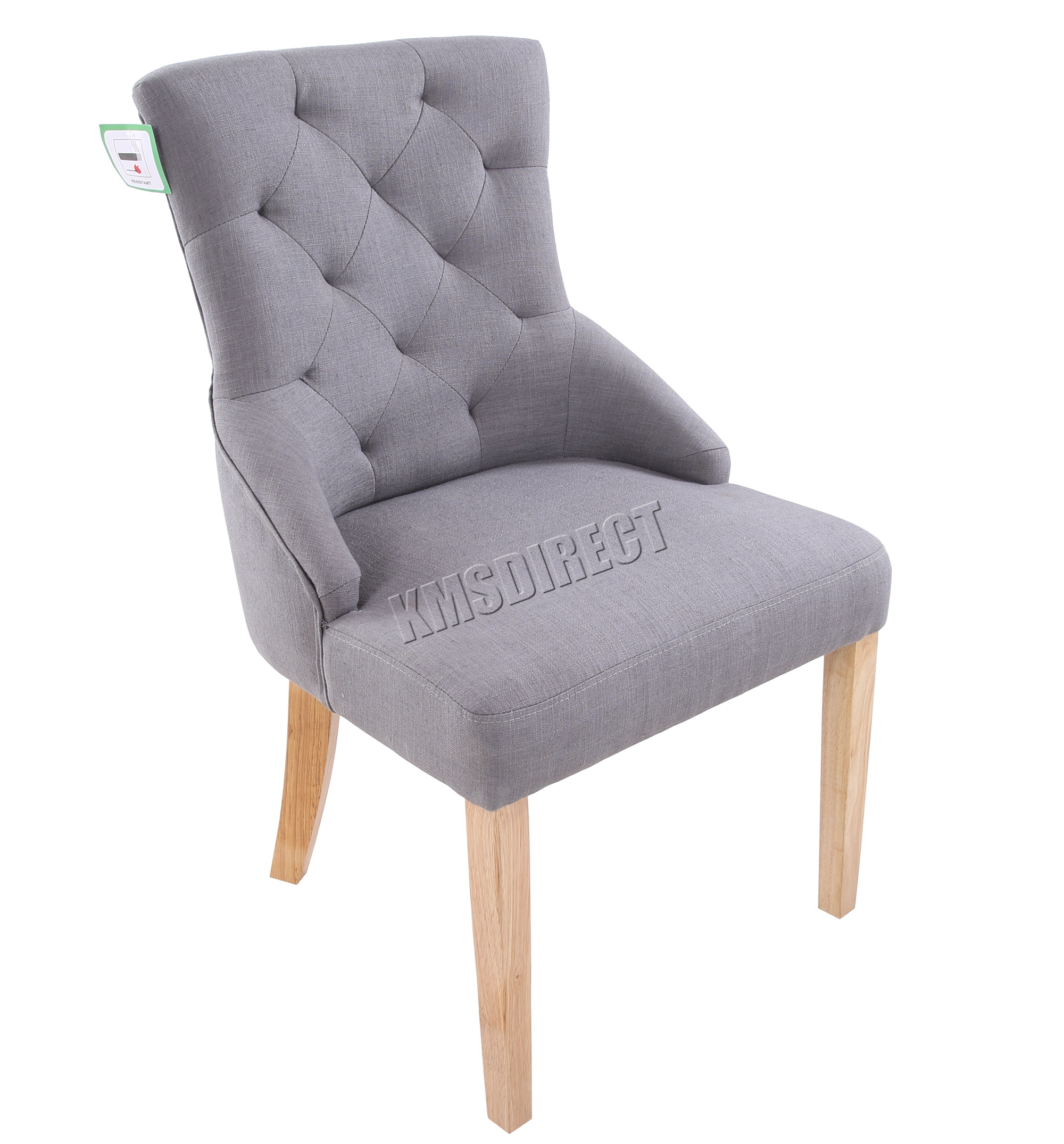 Linen Tufted Dining Chairs Foxhunter New Linen Fabric Dining Chairs Scoop Tufted Back