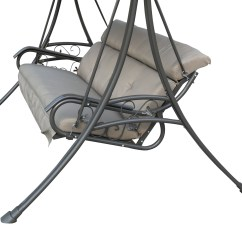 Swing Chair Deals Small Dining Room Table And Chairs Spare Repair Garden Metal Hammock 3 Seater