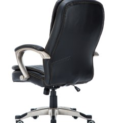 Home Office Chair No Wheels Uk Hanging Outdoor Amazon Westwood Computer Executive Pu Leather Swivel