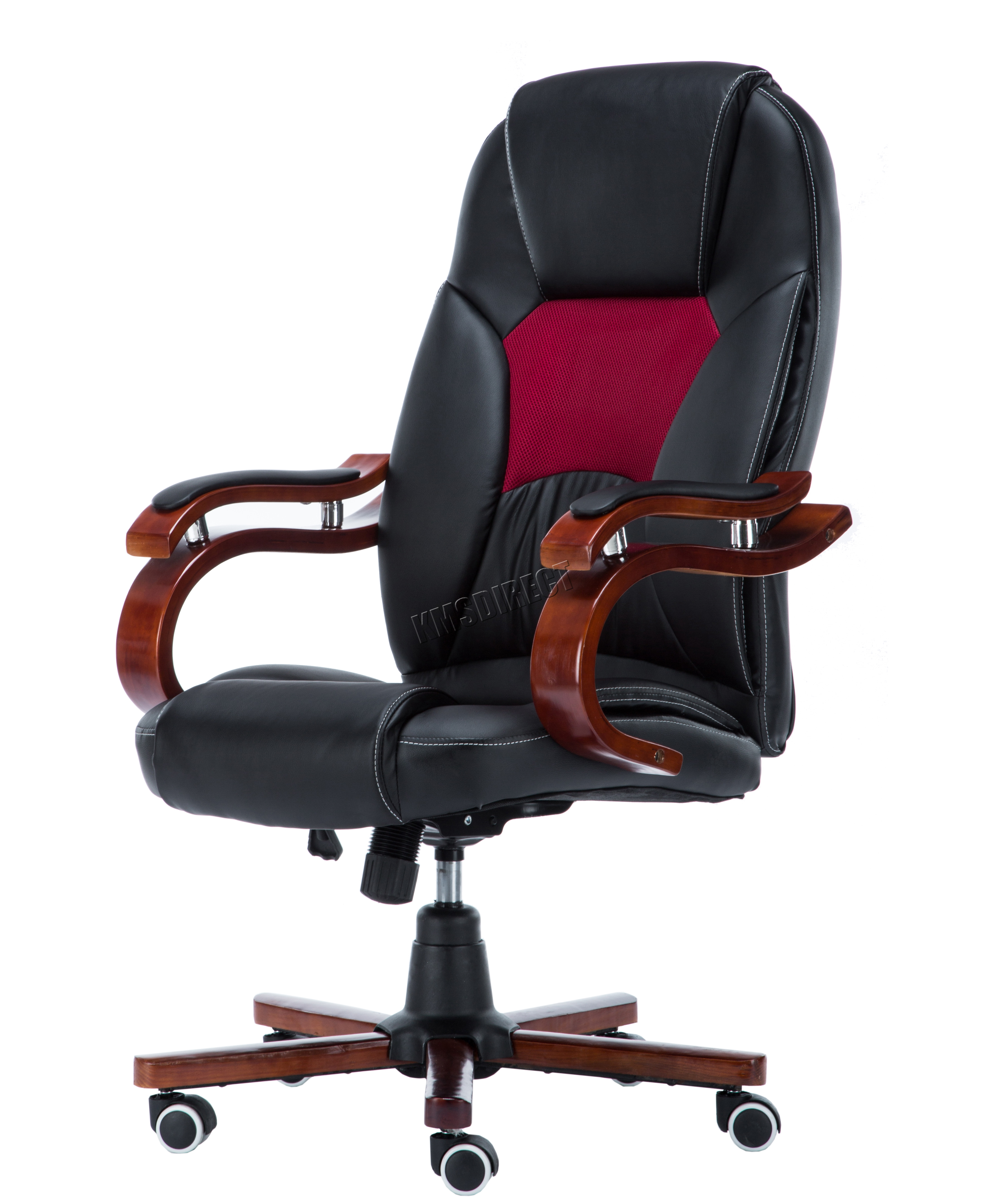 home office chair no wheels uk infant sit up westwood computer executive desk pu leather