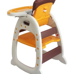 Baby High Chair For Eating Rattan Back Dining Chairs Foxhunter Highchair Infant Feeding Seat 3in1