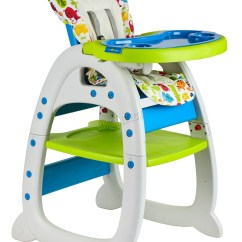 Seat High Chair Folding Kitchen Foxhunter Baby Highchair Infant Feeding 3in1