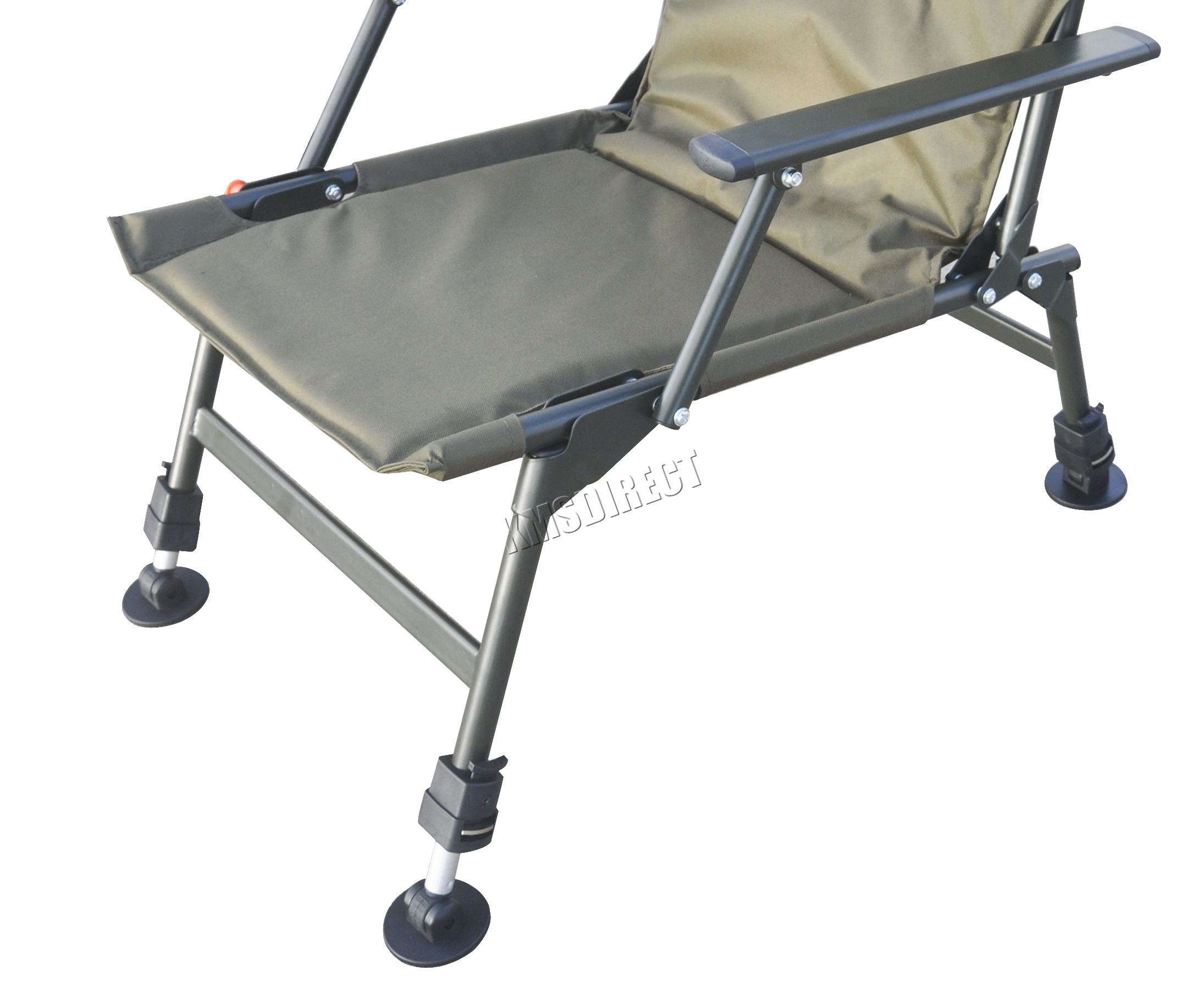 folding chair legs salon chairs portable carp fishing camping heavy duty 4