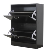 FoxHunter Wooden Shoe Storage Cabinet 2 Drawer Footwear ...