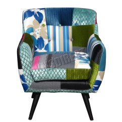 Tub Fabric Accent Chair Patchwork Exercise Ball Stand Westwood Vintage Armchair Seat