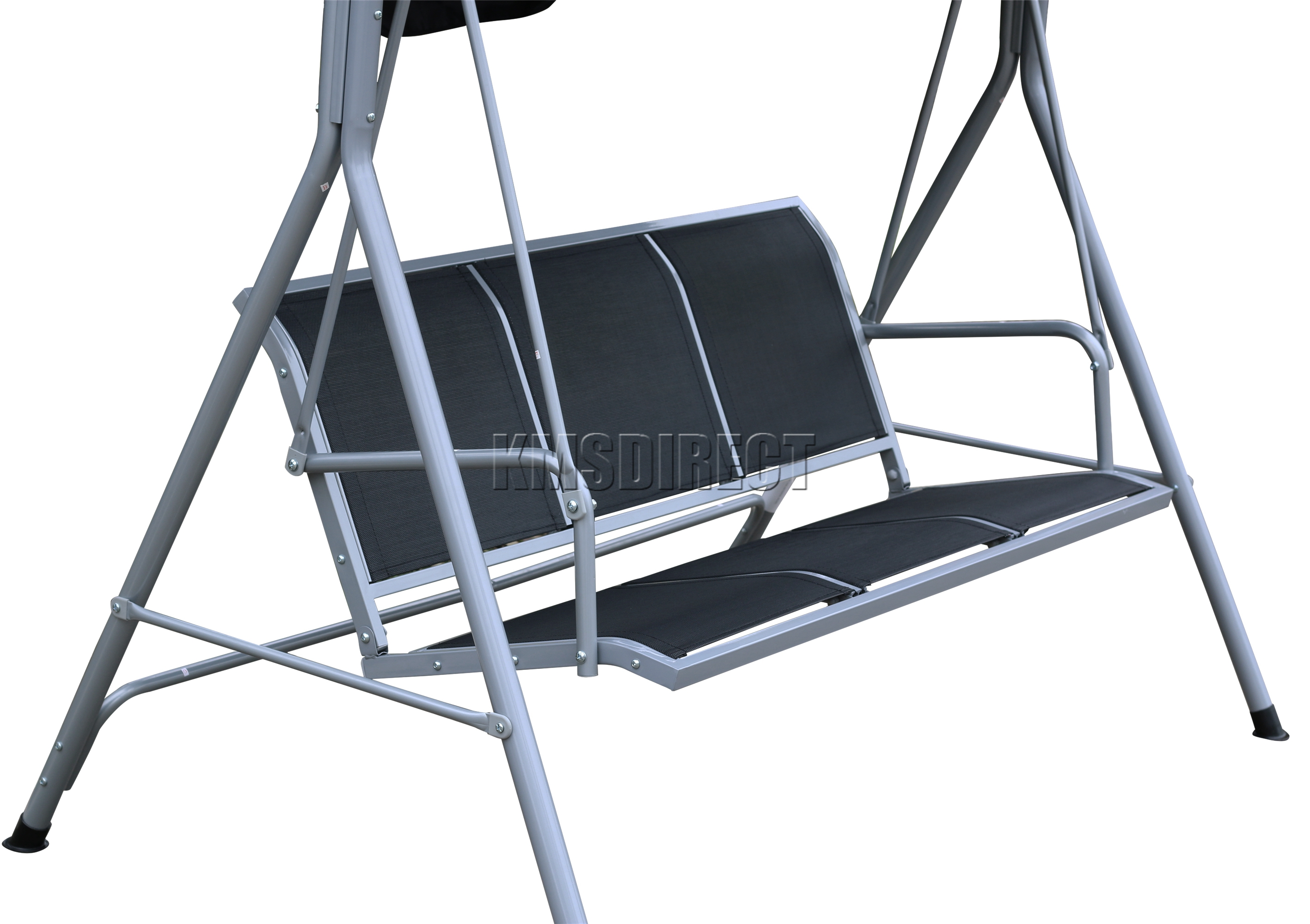 swing chair steel chicco high straps foxhunter garden metal hammock 3 seater bench
