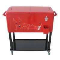 FoxHunter Patio Deck Ice Cooler Rolling Cart Outdoor 65 ...