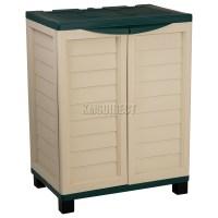 Starplast Outdoor Plastic Garden Utility Cabinet With 2 ...