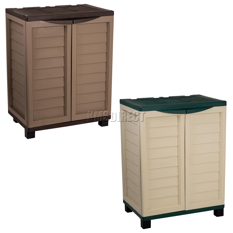 Starplast Outdoor Plastic Garden Utility Cabinet With 2
