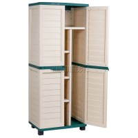 Starplast Outdoor Plastic Garden Utility Cabinet With