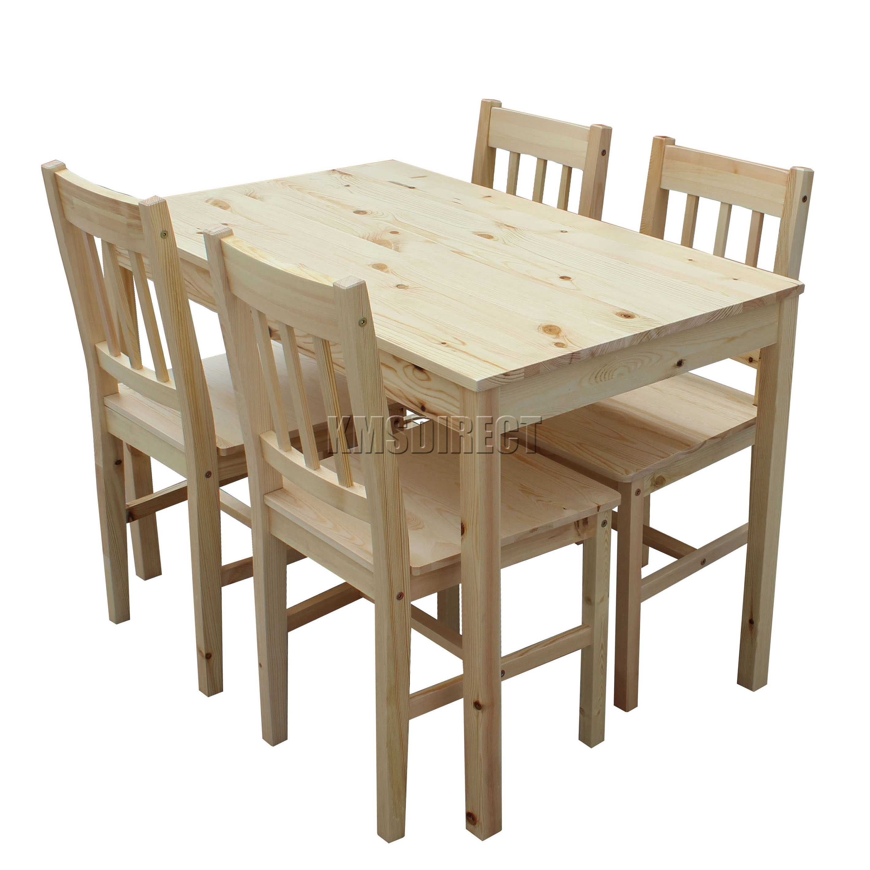 wooden kitchen table floor tiles home depot westwood quality solid dining and 4 chairs set sentinel ds02 pine