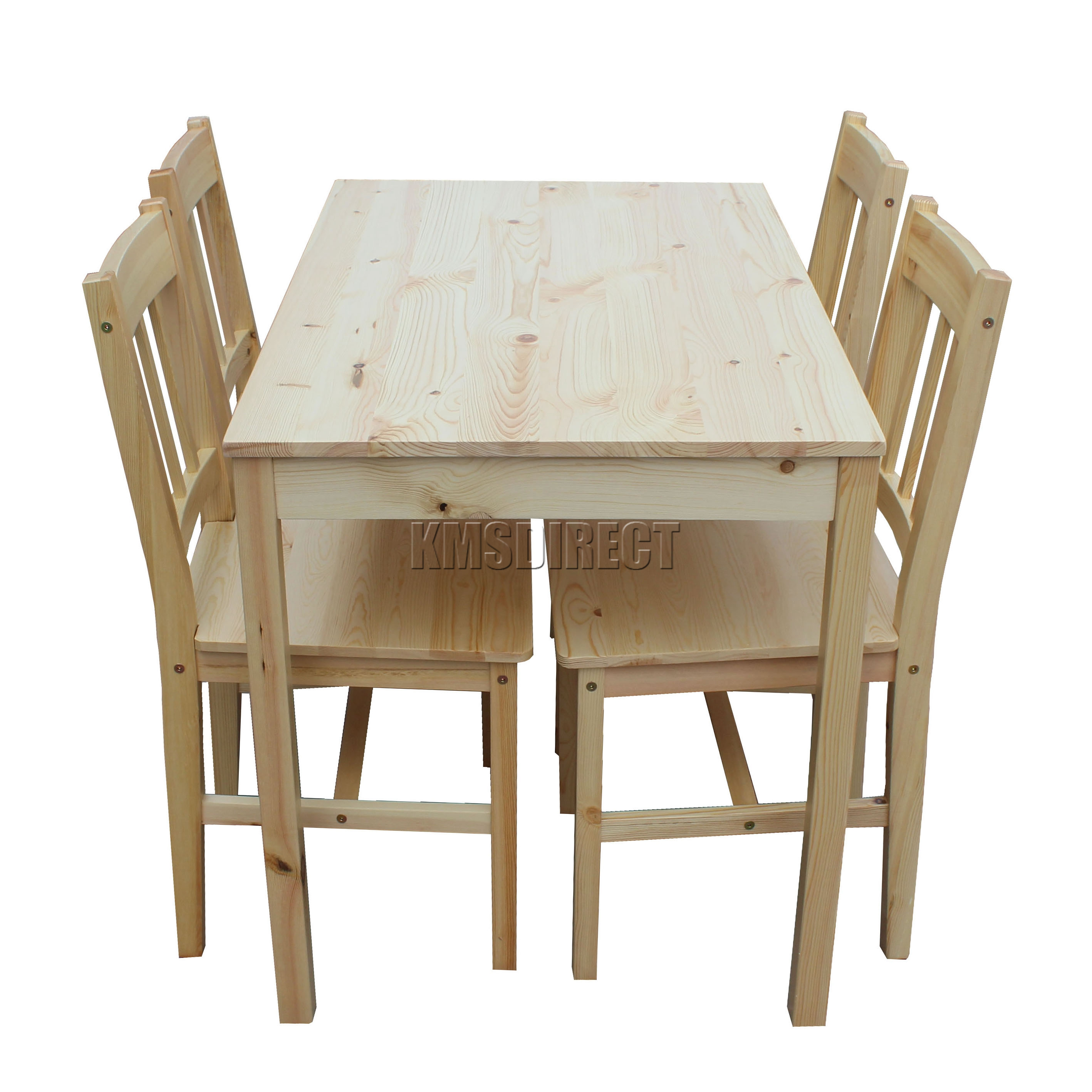 Wooden Table And Chairs Foxhunter Quality Solid Wooden Dining Table And 4 Chairs