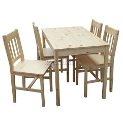 Solid Wood Dining Table And Chairs Swing Chair Big W Foxhunter Quality Wooden 4