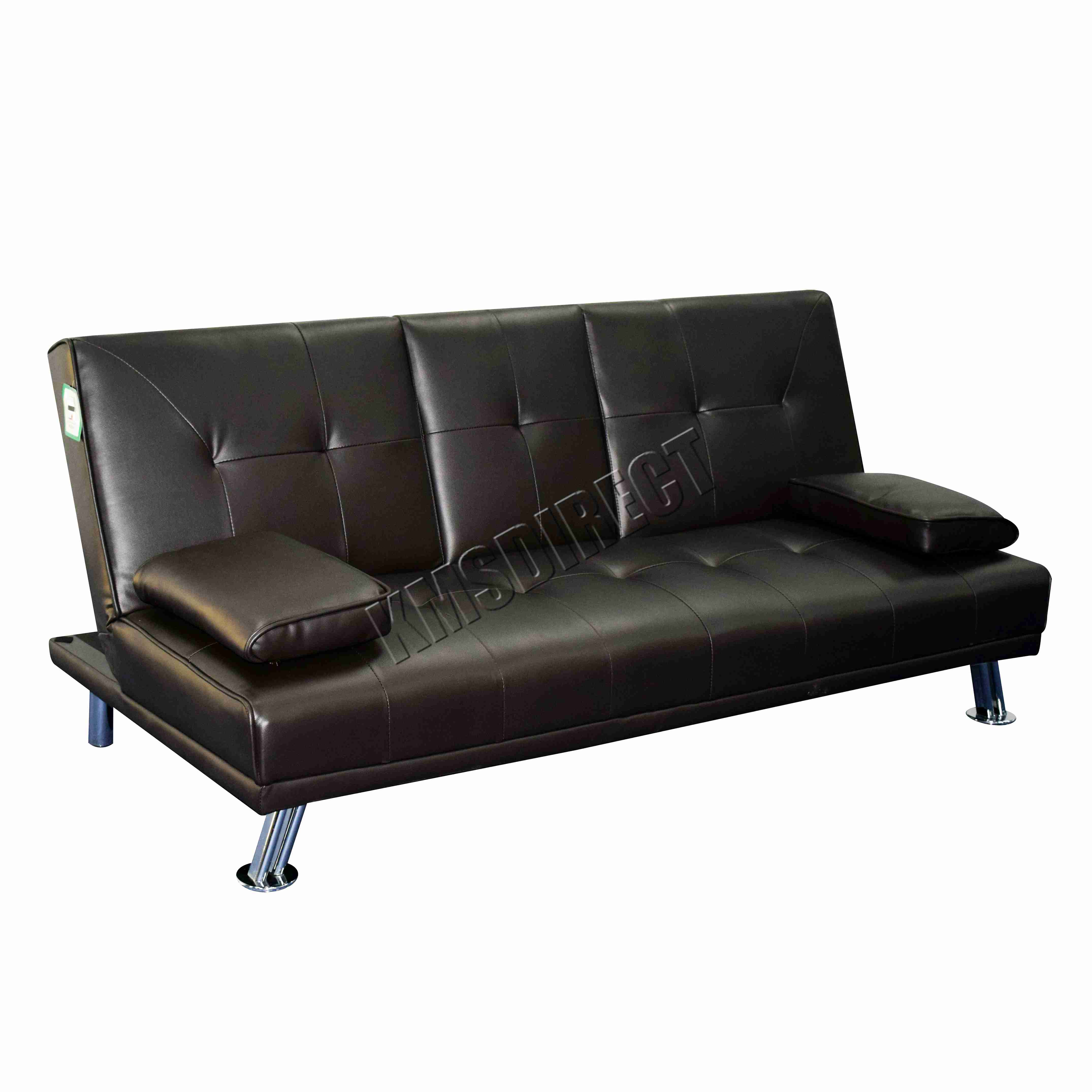 small double leather sofa bed modern recliner sofas large pair