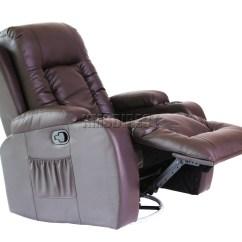 Swivel Rocking Recliner Chair Oversized Cushion Covers Foxhunter Leather Massage Cinema Sofa