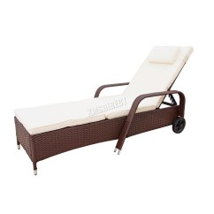 Reclining Chair Bed Bicycle Seat Office Westwood Rattan Day Recliner Sun Lounger Outdoor