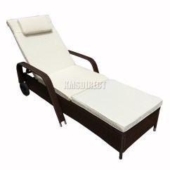 Reclining Chair Bed Sit Stand Amazon Foxhunter Rattan Day Recliner Sun Lounger