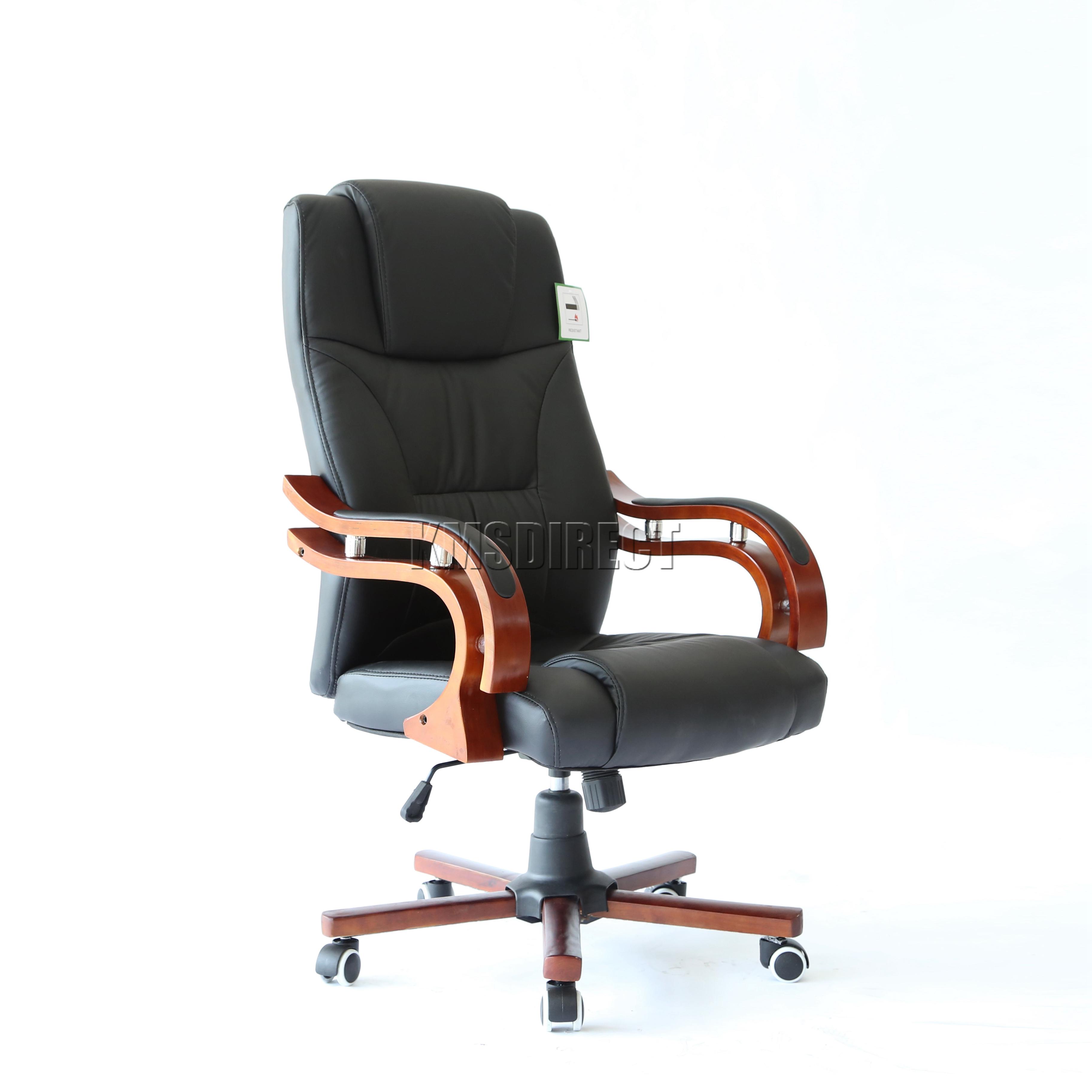 desk chair ebay uk telescope casual beach foxhunter computer executive office pu leather