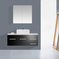 WestWood Wall Mount Mirror Bathroom Cabinet Unit Storage