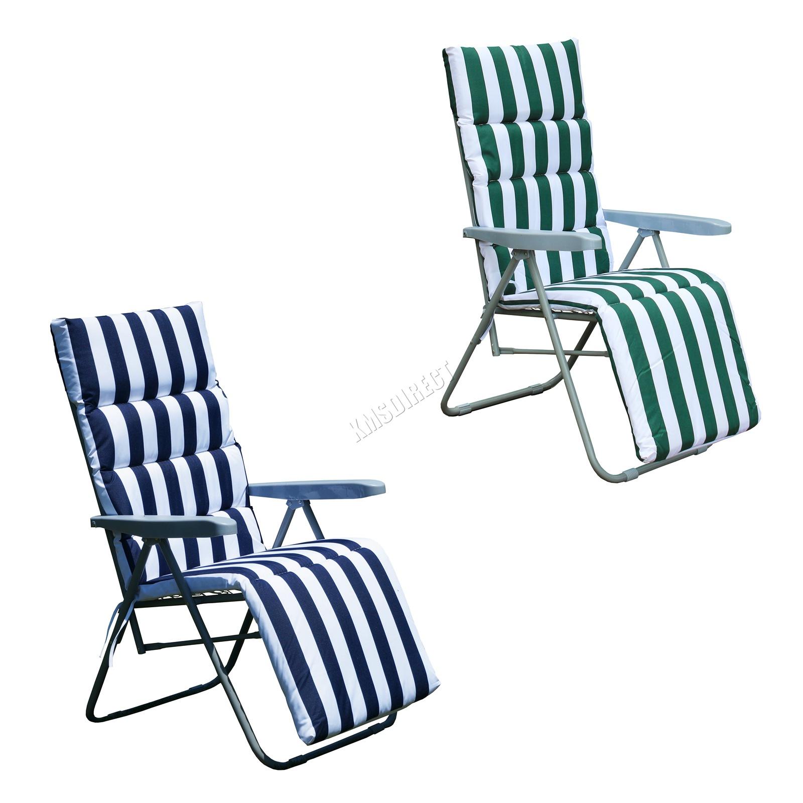 medical reclining chairs uk cheap kids foxhunter 2 x sun recliner garden relaxer