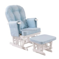 Comfy Nursing Chair Queen Anne Recliner Chairs Foxhunter Glider Maternity Rocking With