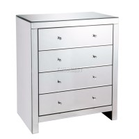 WestWood Mirrored Furniture Glass With Drawer Chest ...