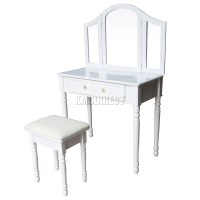 FoxHunter Makeup Dressing Table Set With Stool Drawer ...