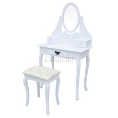 Professional Makeup Chair Uk Teak Garden Table And Chairs Foxhunter Dressing Set With Stool Drawer