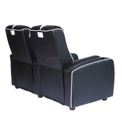 Electric Recliner Sofa Not Working Best Leather Repair Kit Foxhunter Retro Cinema Movie Chair 2 Seat