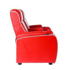 Electric Recliner Sofa Not Working Usa Made Sofas Foxhunter Leather Retro Cinema Movie Chair 2 Seat