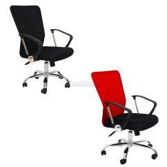 Fabric Office Chairs Uk Contemporary Reading Chair Foxhunter Computer Executive Desk Mesh