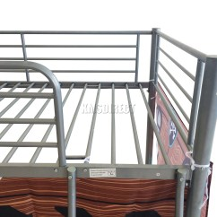 Steel Chair For Tent House Leather Frame Foxhunter Childrens Metal Mid Sleeper Cabin Bunk Bed Kids
