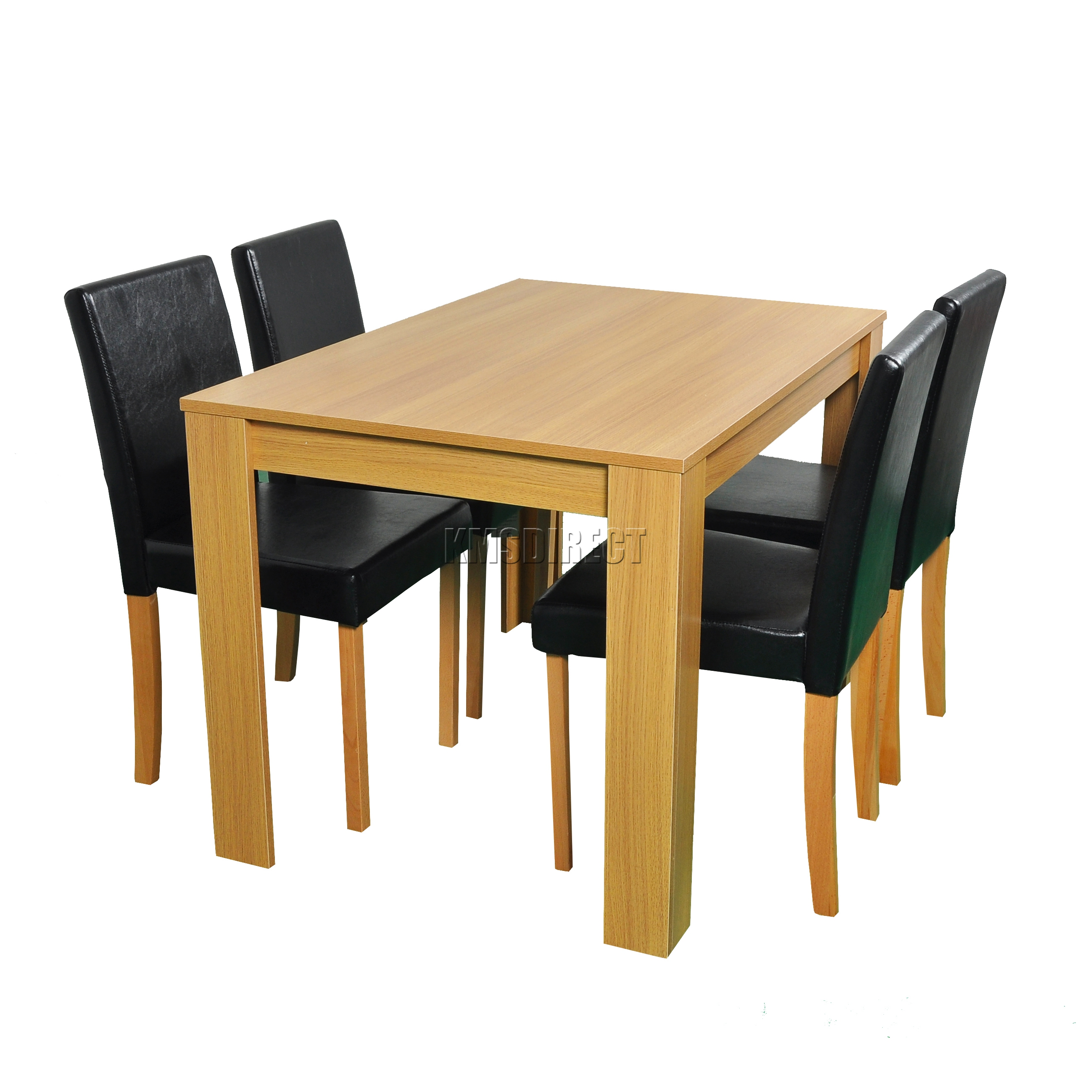 dining table and chair set uk white rocking wooden legs westwood 4 or 6 pu faux leather