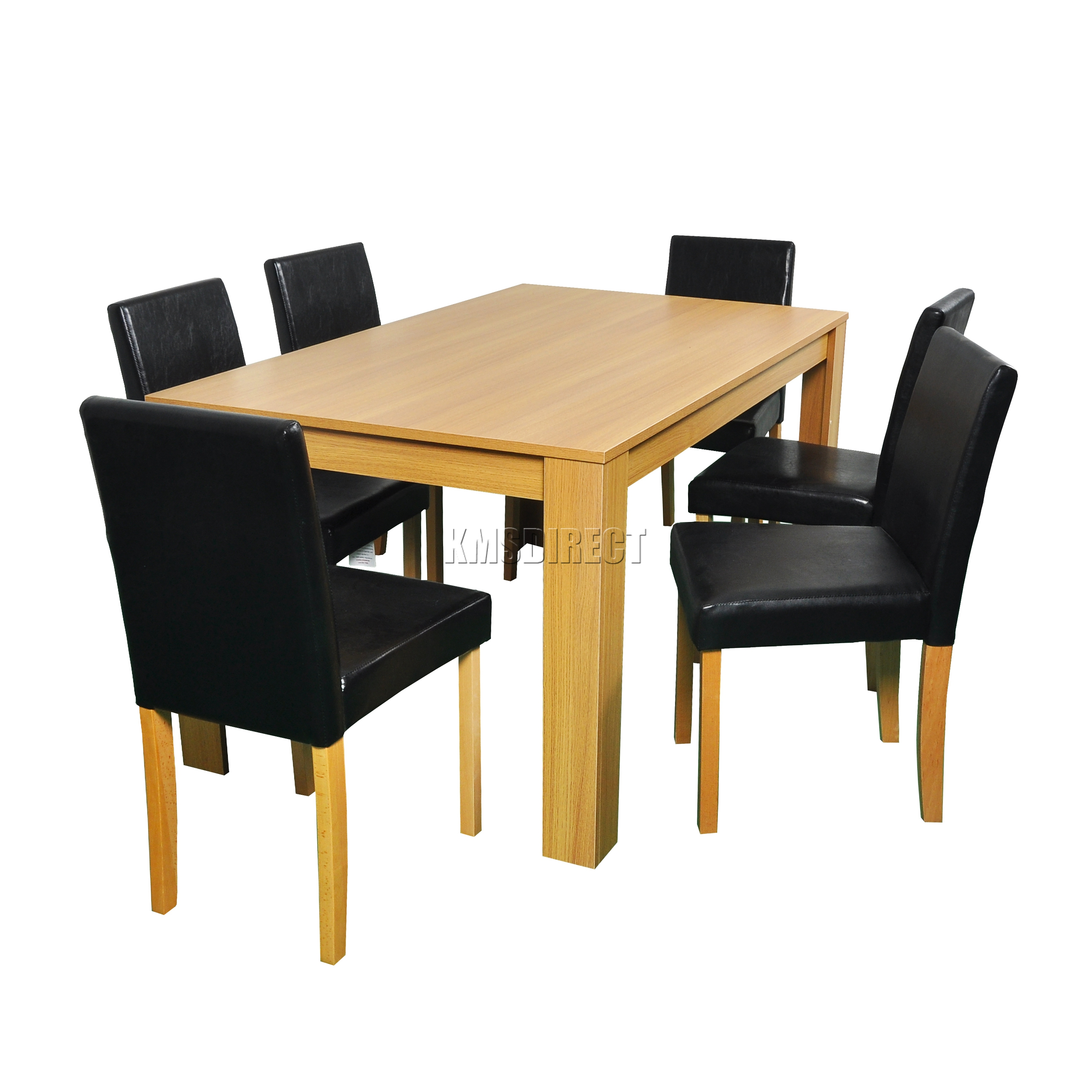 dining table set 6 chairs stretch chair covers for folding westwood wooden and 4 or pu faux leather