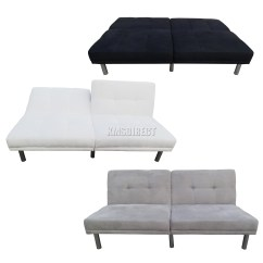 2 Seat Sofa Bed Uk Lugnvik Dimensions Foxhunter Fabric Faux Suede Recliner Seater