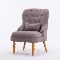 Tub Chair Grey 18 Inch Doll Table And Chairs Foxhunter Linen Fabric Armchair Dining Living