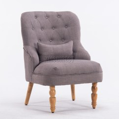 Grey Material Office Chair Painted French Chairs Westwood Linen Fabric Tub Armchair Dining Living