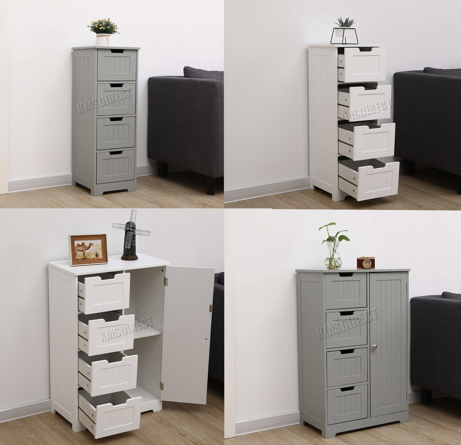 Bathroom Storage Cabinet Details About Westwood Bathroom Storage Cabinet Wooden 4 Drawer Cupboard Free Standing Unit