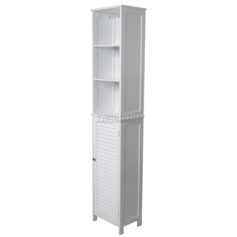 FoxHunter Wall Mount Wooden Bathroom Cabinet Tall Shelving