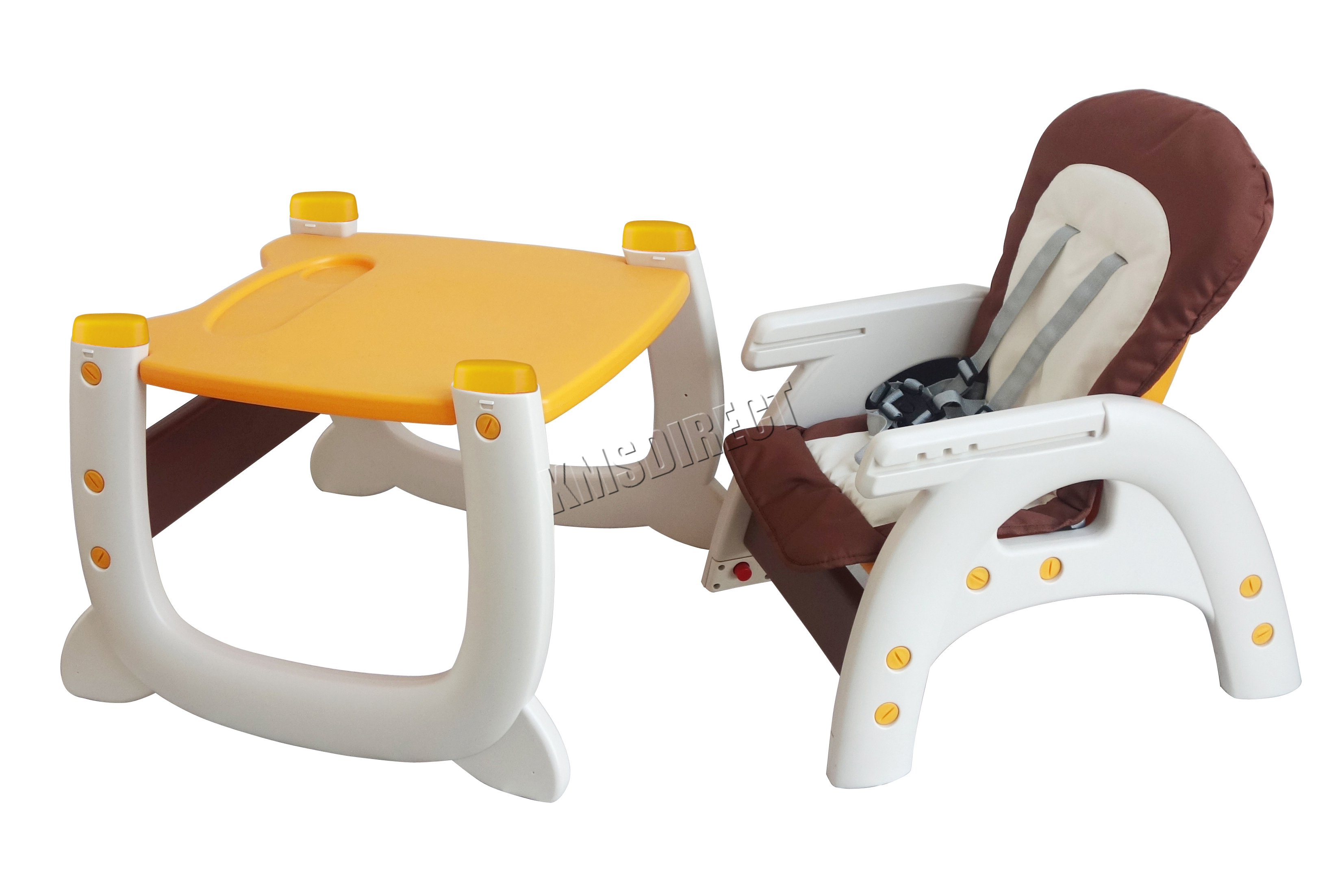 3 In 1 High Chair Foxhunter Baby Highchair Infant High Feeding Seat 3in1