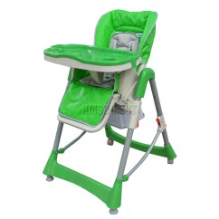 Padded High Chair Burlap Wingback Foxhunter Baby Foldable Recline Highchair