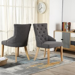 Grey Tufted Dining Chairs Canada Funky Arm Chair Westwood New Linen Fabric Scoop