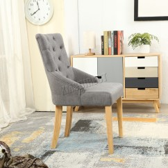 Grey Tufted Dining Chairs Canada Tub Chair Covers Westwood New Linen Fabric Scoop