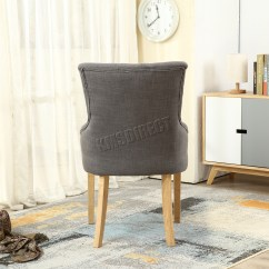 Grey Tufted Dining Chairs Canada Black Parson Chair Covers Westwood New Linen Fabric Scoop