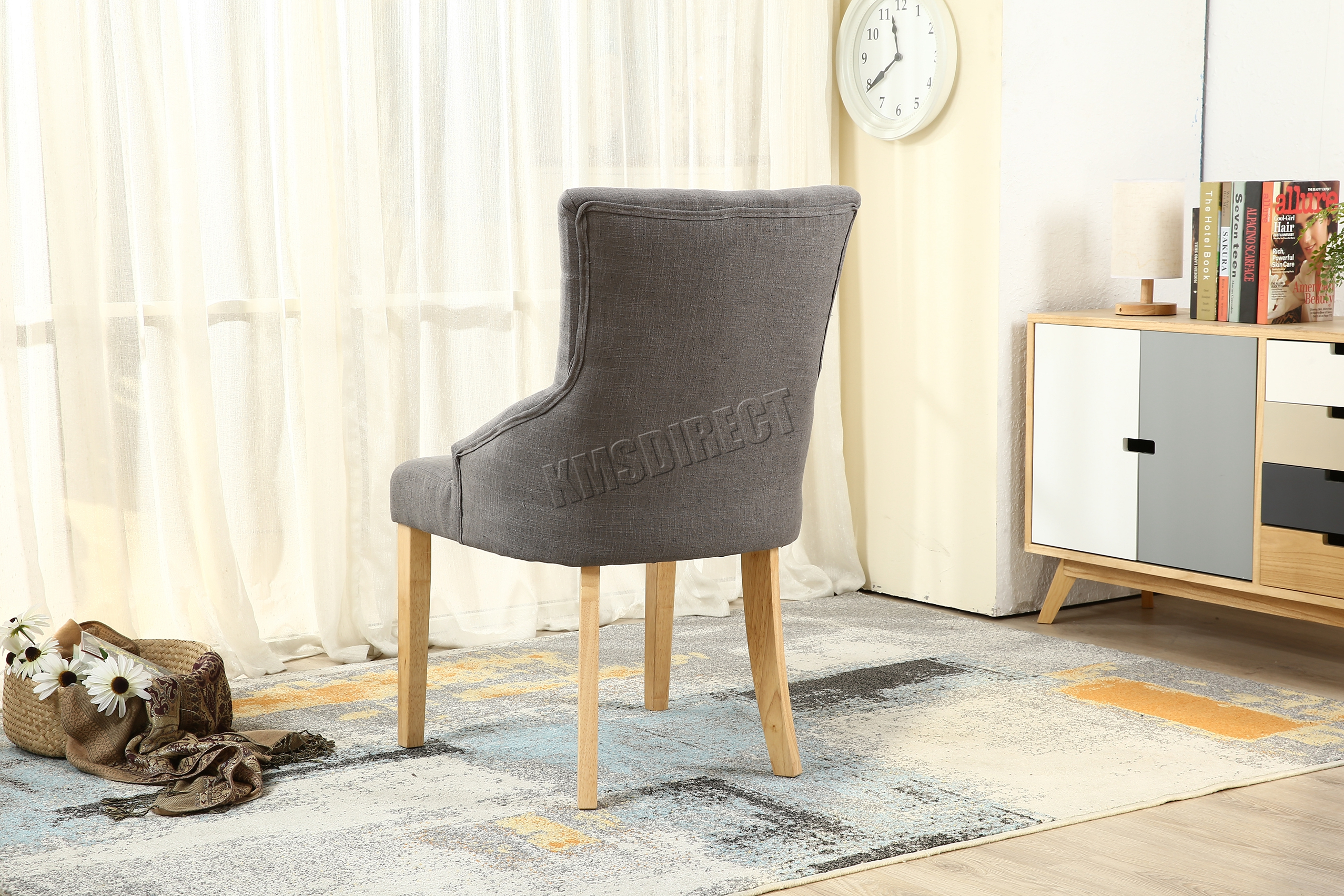 grey tufted dining chairs canada bariatric shower chair australia westwood new linen fabric scoop