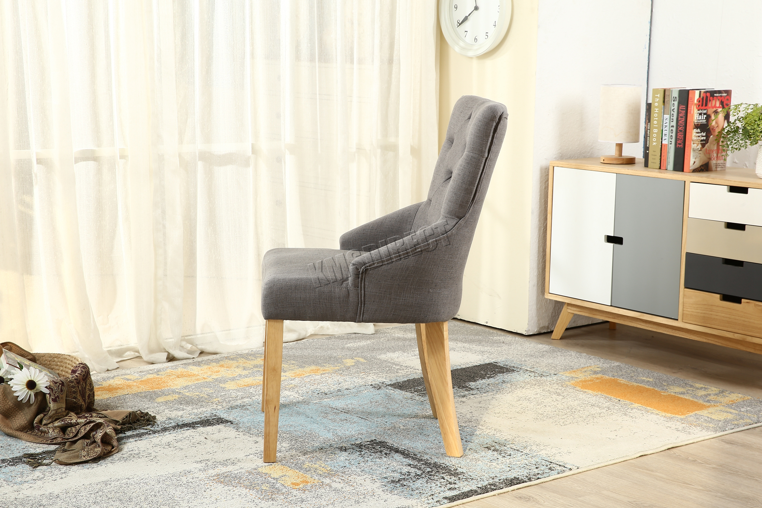 grey tufted dining chairs canada swing chair olx westwood new linen fabric scoop