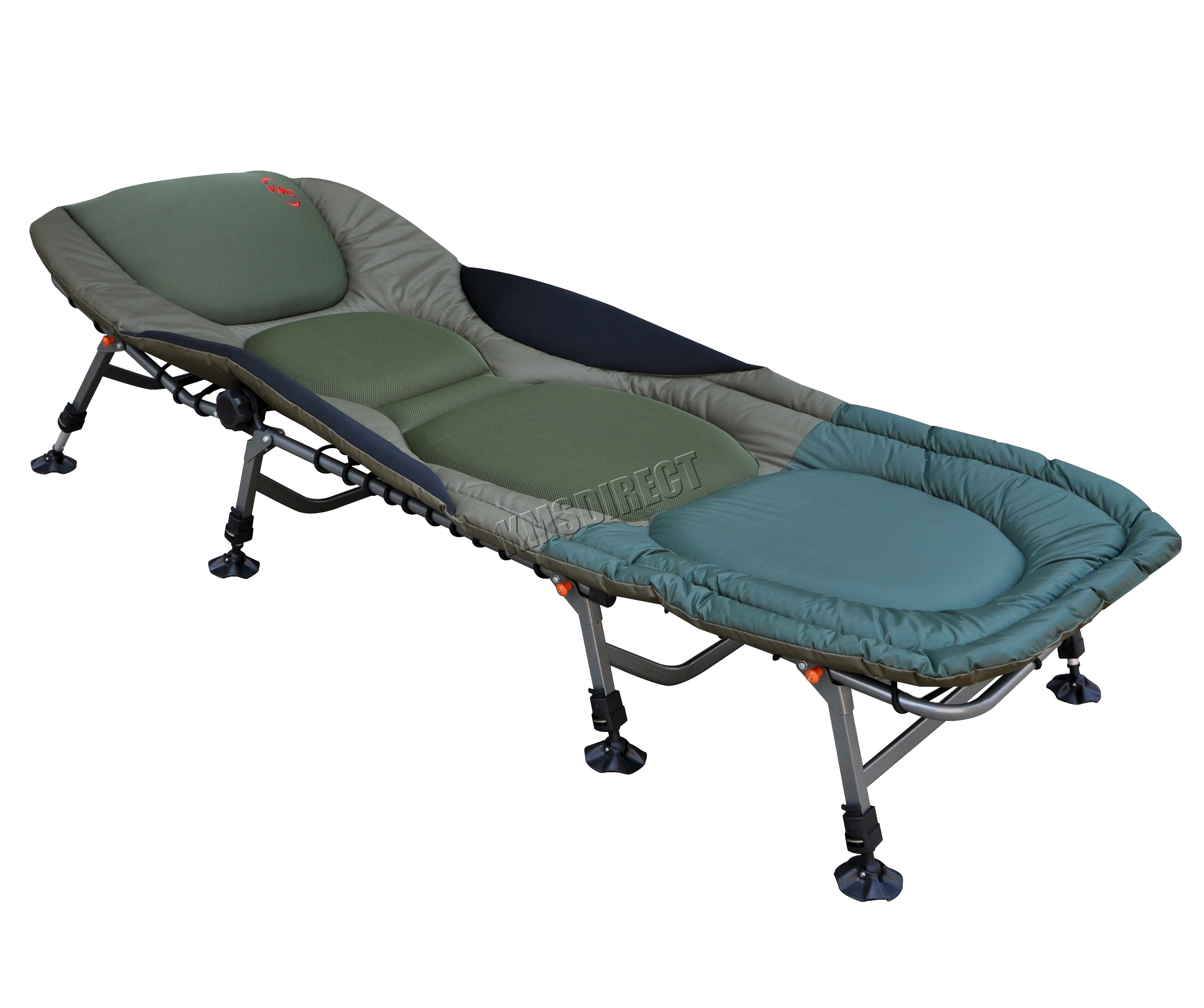 fishing chair uk linenfold cover portable carp bed bedchair camping 8 adjustable legs pillow fb-022 | ebay
