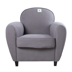 Tub Chair Grey Poang Review Foxhunter Linen Fabric Armchair 2094 Sofa Dining