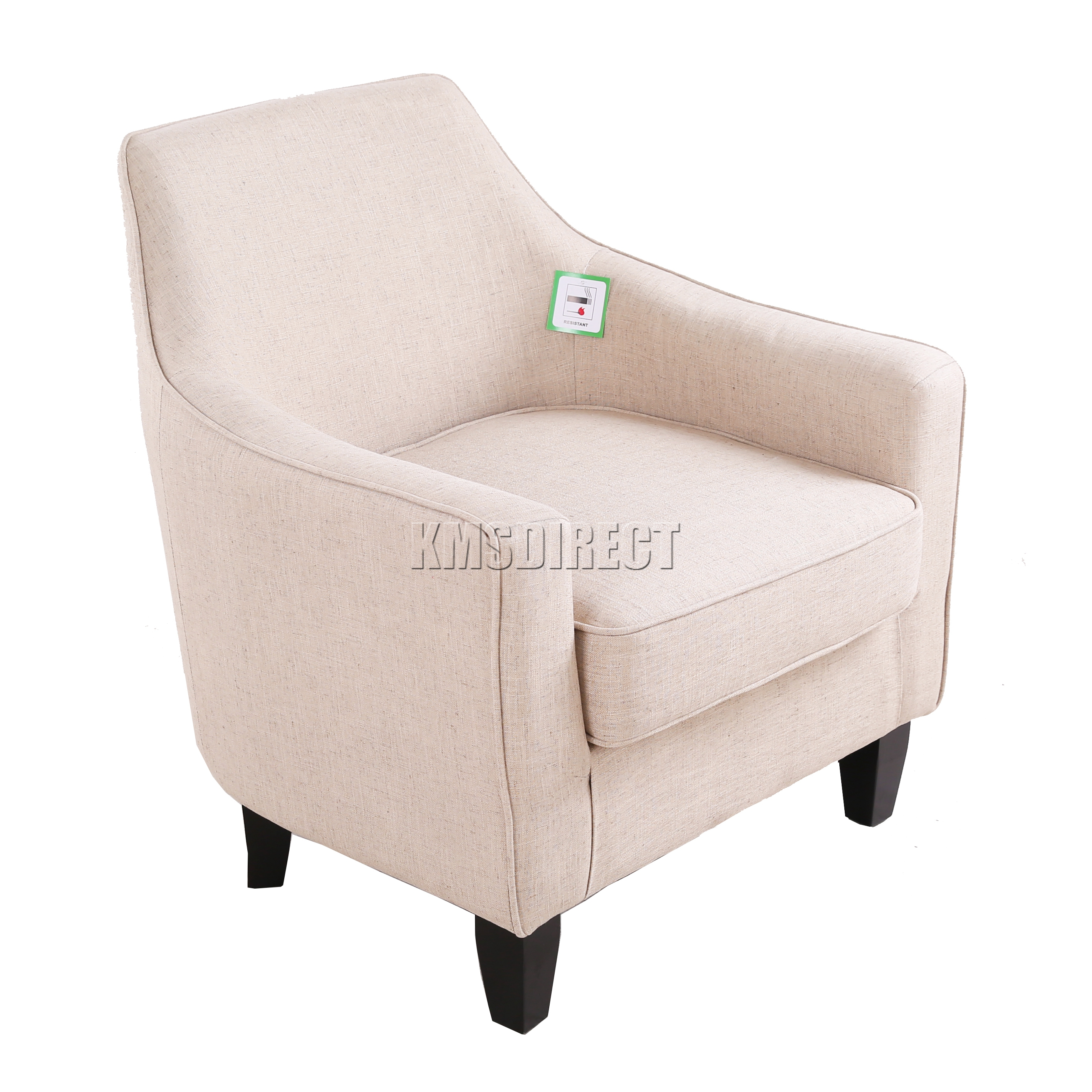 cream lounge chair burlap bows for wedding chairs foxhunter linen fabric tub armchair dining living